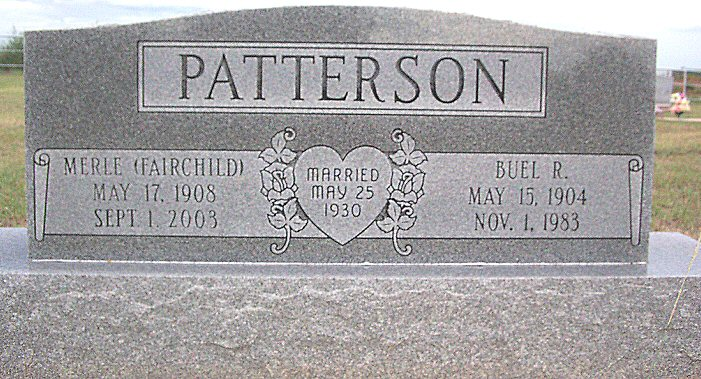 Buel R. & Merle (Fairchild) Patterson