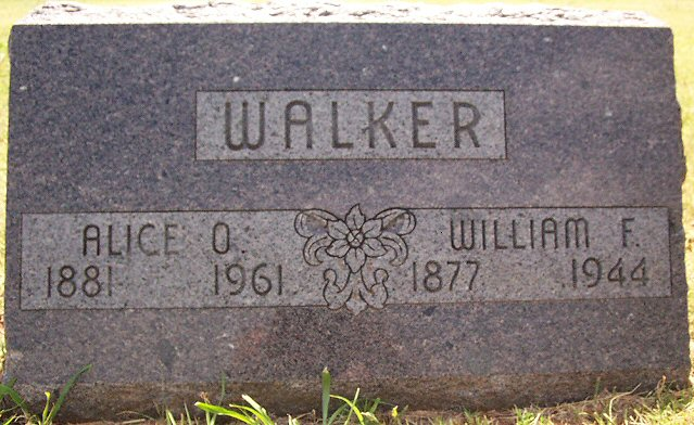 William F. & Alice O. Walker
